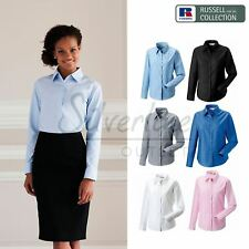 Russell Collection Women's long sleeve easycare Oxford shirt
