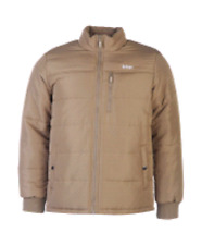 Lee Cooper Solid Padded Mens Jacket Brown