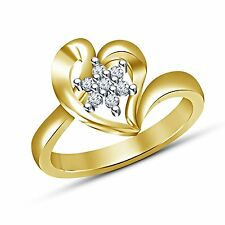 white round cut cubic zirconia 14k gold plated 925 sterling silver women's ring