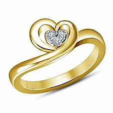 promise heart ring round cut three cubic zirconia 925 sterling silver for girl's