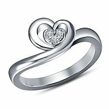 three stone cubic zirconia platinum plated 925 sterling silver Women's Ring