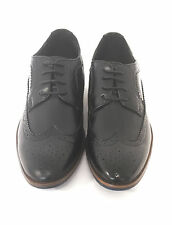Mens Alric Lace Up PU Faux Leather Smart Formal Office Brogues Shoes Size 7-12