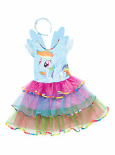 Rainbow Dash My Little Pony Fancy Dress Girls Childs Kids Costume Outfit 3-4 7-8