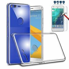 MaxiPRO™ Clear Silicone Gel Case Cover + Real Tempered glass For Google Models