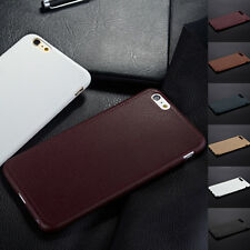 TPU Back Case Leather Soft Luxury Ultra thin Cover For Apple iPhone 7/