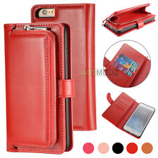For Apple iPhone 6 6S 7 Plus Luxury Flip Cover Wallet Card PU Leather