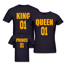King Queen Prince and Princess - Family T-shirts - Set Of 3