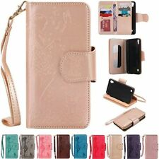 Luxury PU Leather Wallet Card Mirror Flip Cover Stand Case For iPhone