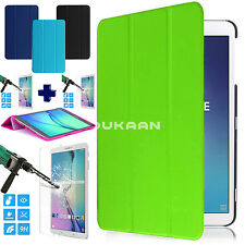 New Ultra Slim Smart Tablet Case For Samsung Galaxy Tab A Tab S2 Tab E +TEMPERED