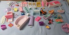 1990s Barbie Doll House Furniture Accessories Fisher Price, Mattel etc Plastic