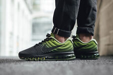 Brand New # 849559 006 NIKE Air Max 2017 Running Shoes Black Green MENS