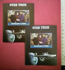New Star Trek Reboot Major Crew 2016 CHAD Stamp Perf+Imperf Souvenir Sheet MNH
