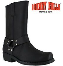 MENS Johnny Bulls LEATHER WESTERN COWBOY BIKER CHELSEA HEEL ANKLE BOOTS SHOES SZ