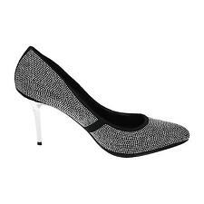 Jumex Damen Klassische Pumps High Heels Stilettos Leder Optik Nieten Glitzer