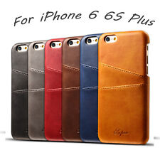 Luxury Slim Genuine Leather Back Skin Case Cover Card For Apple iPhone