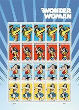 20 Wonder Woman 75th Anniversary USPS Forever First Class Postage Stamps 1 Sh...
