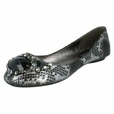 Ladies F8553 Black Snake Skni Effest Slip On shoes By Spot On £9.99
