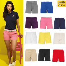 Asquith & Fox Women's Classic Fit Spring/Summer Casual Stylish Chino Shorts