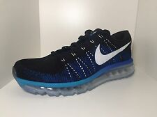 NIKE FLYKNIT AIR MAX 360 Shoes MENS New 620469-014 RUNNING Blue Sizes 8.5 a