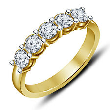 Riva Jewels 14k Gold Over 925 Sterling Silver White CZ Wedding Five Stone Ring