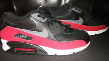 Men's New Nike Air Max 90 Essential, Black/Red, 537384-062, Running Shoes