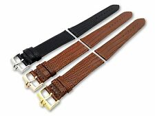 Leather Watch Strap Band for Omega Snake Look Vintage with Buckle Clasp 18 19 20