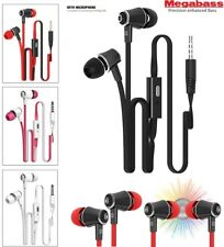 3.5MM JACK IN EAR MEGA BASS STEREO HANDS FREE + MIC HEADSET EARPHONES HEADPHONE