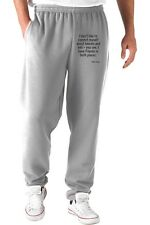 Pantaloni Tuta CIT0106 I don t like to commit myself about heaven and hell - you