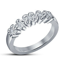 Attractive Band Ring For Women's In Sterling Silver White RD CZ Over Platinum