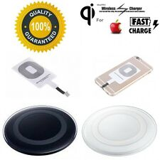 ☆New☆ Genuine Iphone Wireless Charger QI Charging Pad + Receiver 5 5s 6 7+ iPad