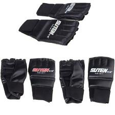 PU Leather Half Mitts Muay Thai Training Punching Sparring Boxing Gloves Us
