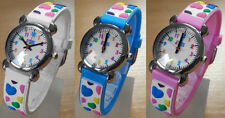 Kids Girls Watch Silicone Strap Colourful Hearts HQ