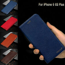 Luxury Genuine Leather Flip Wallet Phone Case Cover for Apple iPhone 6