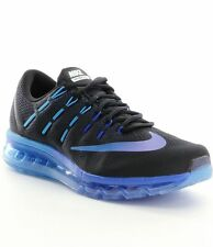 New Nike Men's Air Max 2016 Running Shoes Black/Clear/Blue 806771-040 ***