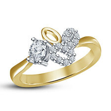 14K Gold Plated 925 Sterling Silver White Cubic Zirconia Fancy Ring For Women's