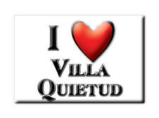 MEXICO SOUVENIR FRIDGE MAGNET RECUERDO IMAN DE NEVERA I LOVE VILLA QUIETUD