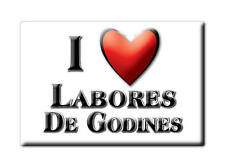 MEXICO SOUVENIR FRIDGE MAGNET IMAN DE NEVERA I LOVE LABORES DE GODINES