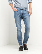 JEANS LEE RIDER LIGHT SHADE SLIM UOMO PANTALONE DENIM CHIARO VITA MEDIA