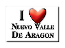 MEXICO SOUVENIR FRIDGE MAGNET IMAN DE NEVERA I LOVE NUEVO VALLE DE ARAGON