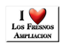 MEXICO SOUVENIR FRIDGE MAGNET IMAN DE NEVERA I LOVE LOS FRESNOS AMPLIACION