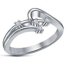Marvelous Fashion Women's Ring RD Cut White CZ White Platinum Plated 925 Silver