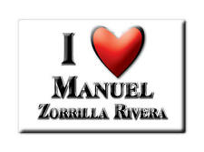 MEXICO SOUVENIR FRIDGE MAGNET IMAN DE NEVERA I LOVE MANUEL ZORRILLA RIVERA