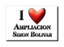 MEXICO SOUVENIR FRIDGE MAGNET IMAN DE NEVERA I LOVE AMPLIACION SIMON BOLIVAR