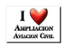 MEXICO SOUVENIR FRIDGE MAGNET IMAN DE NEVERA I LOVE AMPLIACION AVIACION CIVIL