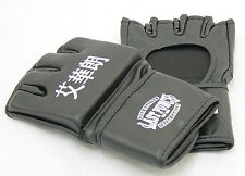Black Grappling MMA Training Gloves UFC Style Gloves S M L XL Size
