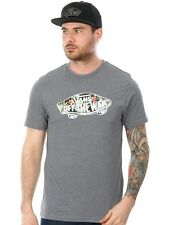 Camiseta Vans Off The Wall Logo Fill Gris Gris-negro Decay Palm