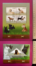 Animal PETs DOGs 2015 CONGO perf. 4 value Sheetlet CTO Excellent NH UKseller