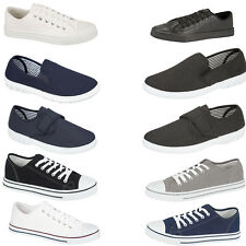 Mens Canvas Pumps New Flat Casual Shoes Lace Up Cheap Trainers Sneakers UK7-12