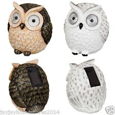 Novelty Garden Decoration Owl with Solar Ultra bright Led Light Eyes - 15cm