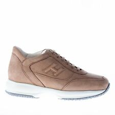 HOGAN scarpe uomo men shoes Interactive sneaker in nabuk marrone noce